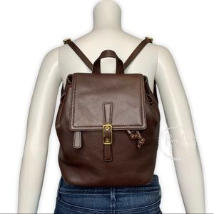 Coach Vintage Legacy Brown Leather Backpack 9858